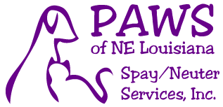PAWS of Northeast Louisiana Spay/Neuter Services, Inc.