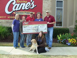 Raising Canes helping PAWS